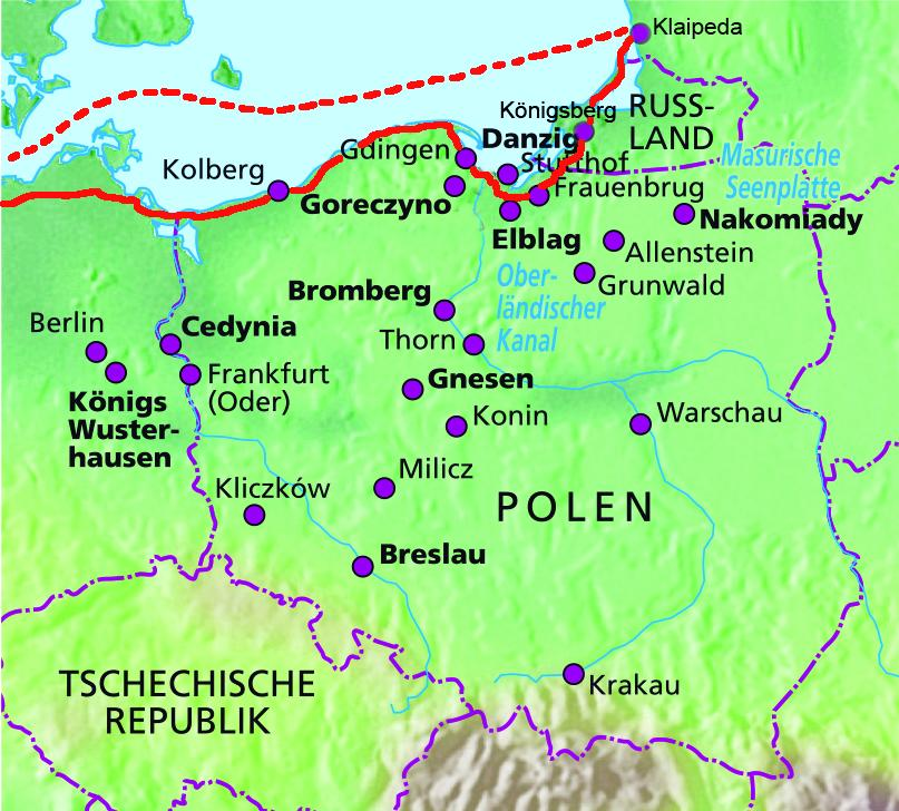 Karte Ostseeküste Polen.Motorradreise Nach Polen Bersteinküste Und Kaliningrad